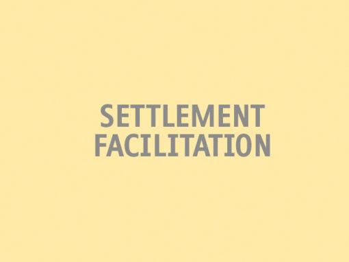 Settlement Facilitation